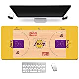 ZDVHM Estesa Gaming Mouse Pad NBA Lakers Basketball Campo Grande Tastiera Tappetino Mouse Impermeabile Antiscivolo Gioco Mousepad for Office Home PC Desktop Tabella Mouse Pad (Size : 600 * 300 * 3mm)