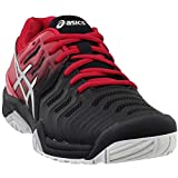 ASICS Mens Gel-Resolution 7 Tennis Shoe, Black/Silver, Size 10.5