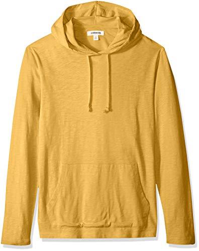 Amazon-Marke: Goodthreads Herren T-Shirt-Hoodie, leicht, aus Slub-Baumwolle, Gelb (Gold Gol), US M (EU M)