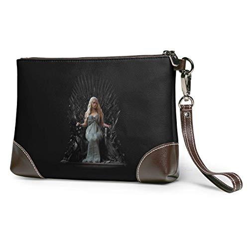 EDFG Game of Throne porte-monnaie en cuir véritable porte-cartes de téléphone portefeuille zippé pochette de poignet pochettes sacs à main pour femmes/hommes