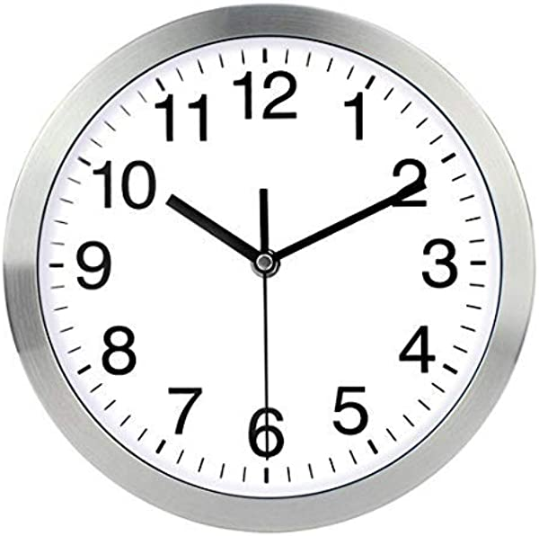 Harryup 12 Large Wall Clock Non Ticking Silent Quartz Decorative Clocks Modern Style Good For Home Kitchen Living Room Bedroom Office Stainless Steel Metal Frame