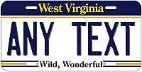 ナンシーカスタムパーソナライズされたヴィンテージウェストバージニア州金属サインナンバープレートテキストまたは名前ノベルティ自動車タグ