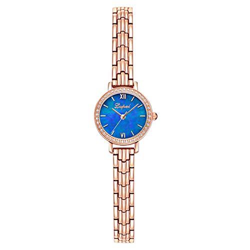 Kilwoe Juego de pulsera de lujo para mujeres, reloj de pulsera de cuarzo para regalo para mujeres y niñas correa de metal