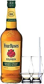 Four Roses Straight Bourbon 0,7 Liter  2 Glencairn Gläser  Einwegpipette 1 Stück