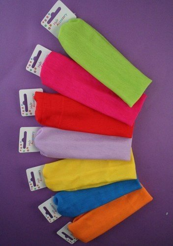 Brightly Coloured Childs size 5cm wide head band in Yellow