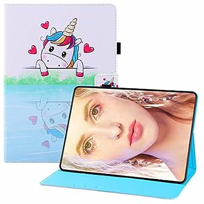 CRABOT Funda Reemplazo para Samsung Galaxy Tab A 10.1(2019)/T510 Cuero PU Flip Carcasa Tablet Carcasa Ranuras Soporte Función Anti-Rasguños Case-Unicornio