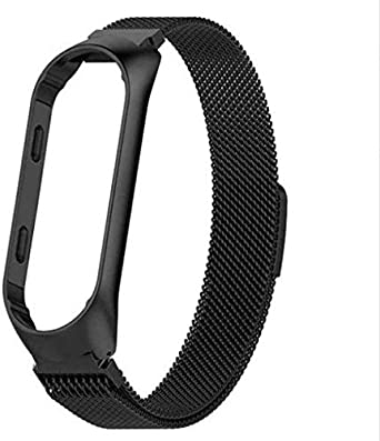 Black Strap For Xiaomi Mi Band 3 Magnet Metal Stainless Steel