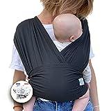 Echarpe de portage | mains libres | rassurant&renforce le lien avec votre nouveau né | facile d'utilisation | Porte-bébé | LANGE OFFERT | de la naissance à 10 kg | idée cadeau liste de naissance.