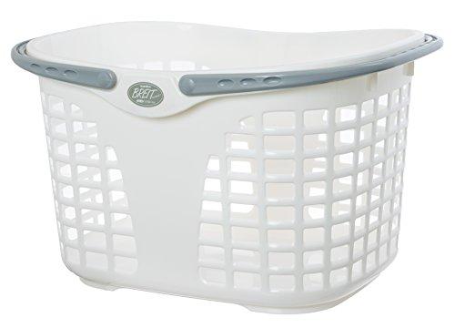 サンコープラスチック ランドリーバスケット 浅型 ランドリーホワイト