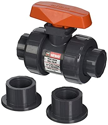 Hayward TB1100STE 1-Inch PVC TB Series Ball Valve with EPDM Seals and Socket/Threaded End Connection from Hayward - Distribution