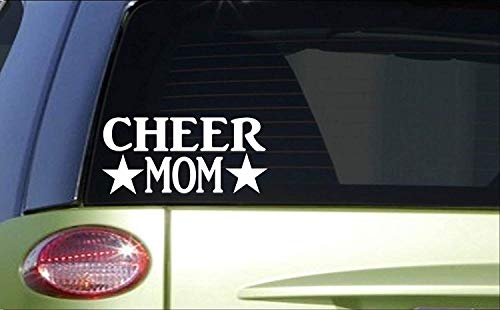 Tollyee Car Decals and Stickers Cheer Mom *H798* 8 inch Sticker Decal Cheerleading Cheerleader Gymnastics