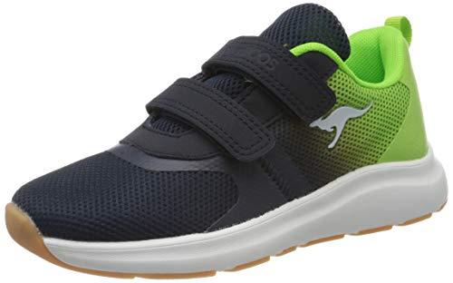 KangaROOS KB-Agil V Sneaker, Dark Navy/Lime 4054, 31 EU