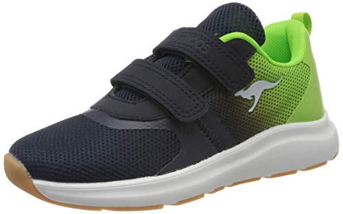 KangaROOS Unisex-Kinder KB-Agil V Sneaker, Dark Navy/Lime 4054, 30 EU