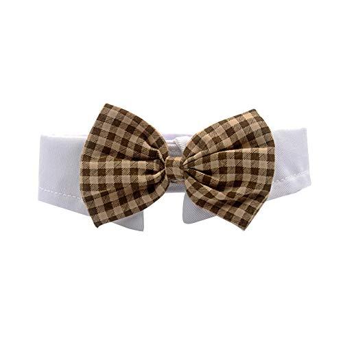 DingCheng Halsband für Hunde und Katzen, mit Fliege, verstellbarer Riemen, für Welpen, Kätzchen.