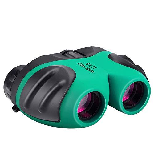 Kompakt Fernglas für Kinder, 8 x 21 Feldstecher Vogelbeobachtung Reisen Sightseeing Grün