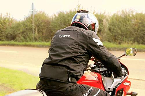 JET Motorradjacke Textil Wasserdicht Winddicht Mit Protektoren Multifunktional Schwarz - 6