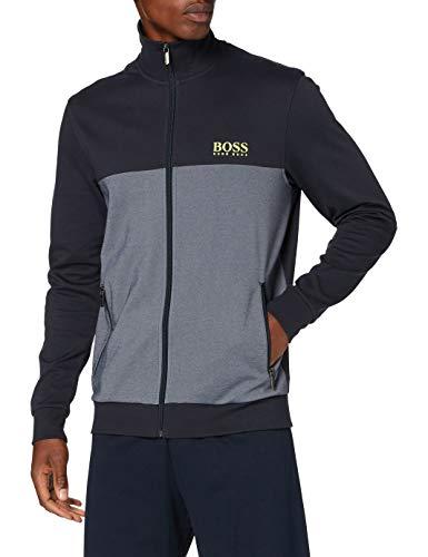 BOSS Herren Tracksuit Jacket Sweatshirt, Blue400, L