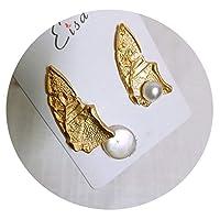 デザインセンスメタルイヤリング非対称非対称イヤリング女性の気質韓国人格冷たい風のイヤリング,中空部