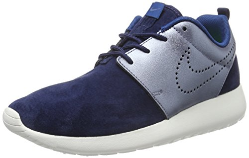 Nike Damen Roshe One Premium Suede Sneakers, Mehrfarbig (Navy/Metallic - Blau Dusk), 38.5 EU