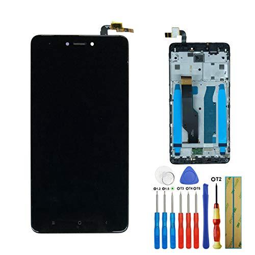 LCD Touch Screen Digitizer per Xiaomi Redmi Note 4X Black Glass + Frame + Glue + Tools