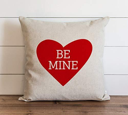 Be Mine - Funda de almohada para el día de San Valentín con cierre de cremallera oculto, para sofá, banco, cama, decoración del hogar, 60 x 60 cm