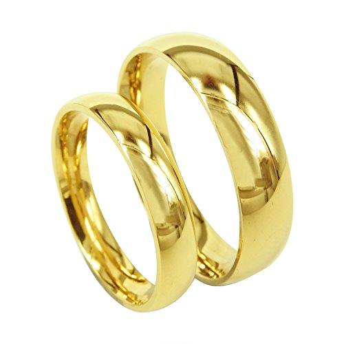 Everstone Anillos de compromiso anillos de bodas anillos de bodas azul anillo pulidos Tamaño: 7-37