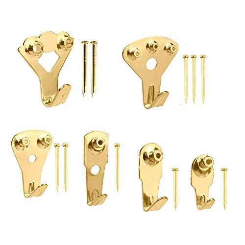 205 Pcs Picture Hangers, VSANNSZ Photo Frame Hooks Heavy Duty Assortment Picture Hanging Kit with Nails for Home and Office Wall Hooks…