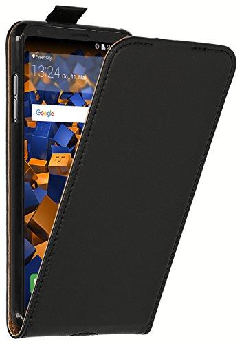 mumbi Tasche Flip Hülle kompatibel mit LG V30 / V30S ThinQ Hülle Handytasche Hülle Wallet, schwarz