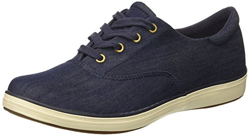 Grasshoppers Women's Janey II Denim Fashion Sneaker, Peacoat Navy, 8.5 M US
