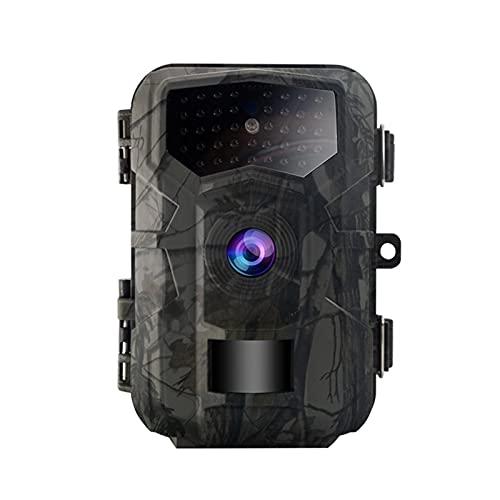 lossomly Telecamera per selvaggina 2 MP HD 1080P, telecamera di sorveglianza digitale, impermeabile, visione notturna a infrarossi, telecamera da caccia per sorveglianza di animali