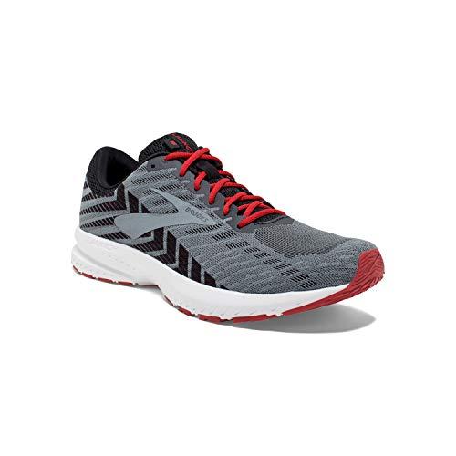 Brooks Mens Launch 6 Running Shoe - Ebony/Black/Cherry - D - 10.0