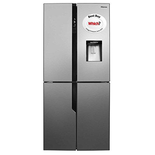 Hisense RQ560N4WC1 American Style Fridge Freezer,Stainless Steel Effect