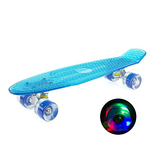 Fantastic Prices! Raitron Dropshipping Women Men Transparent Colorful Flashing Wheel Cruiser Skatebo...