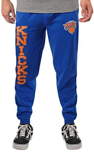 Ultra Game NBA New York Knicks Mens Basic Soft Terry Jogger Pants, Team Color, Large