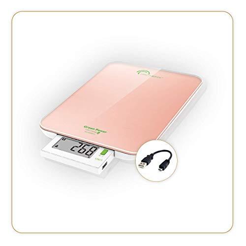 Little Balance 8184 Slide 6 USB Balance culinaire, Verre, 6 kilograms, Nacre