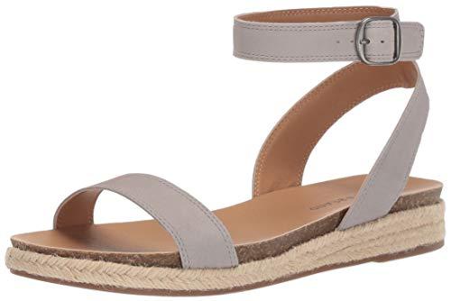 Price comparison product image Lucky Brand Women's GARSTON Espadrille Wedge Sandal,  Chinchilla,  6 M US