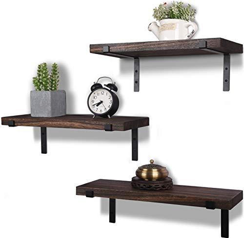 SRIWATANA Floating Shelves Wall Mounted, Solid Wood Wall Shelves, White