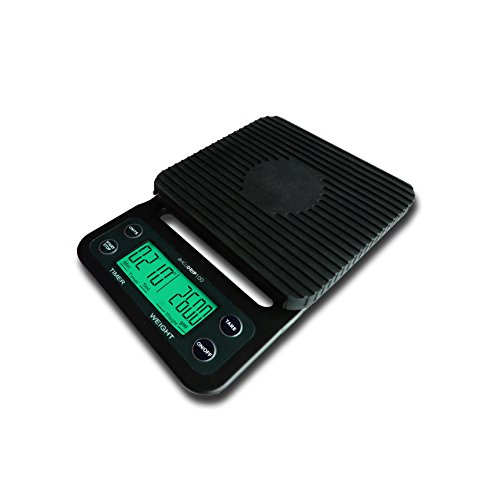 AcuDrip100 New Model Digital Coffee Scale and Timer by Somerset Products | 0.1 Gram Accuracy | Spill Proof!