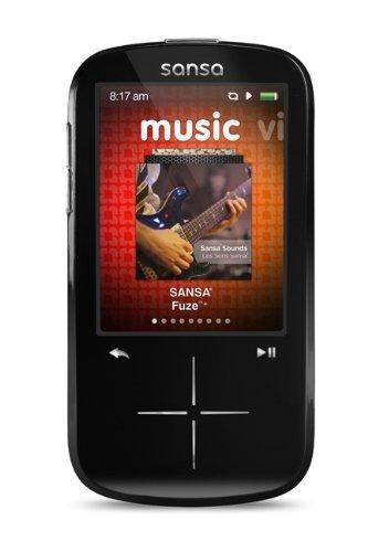 SanDisk Sansa Fuze+ 4 GB MP3 Player (Black) (Discontinued by Manufacturer) (Renewed)