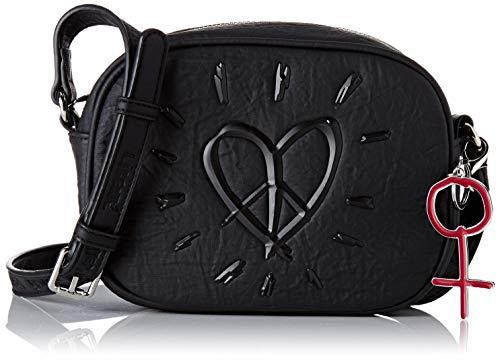 Desigual Damen Bag Legend Virginia Umhängetasche, Schwarz (Negro), 15x6.8x20 cm