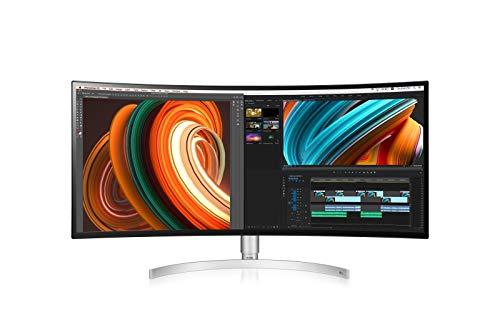 LG 34WK95C 86,36 cm (34 Zoll) Curved QHD IPS Monitor (21:9 UltraWide, DCI-P3 98%, AMD Radeon FreeSync, HDR400) schwarz/weiß