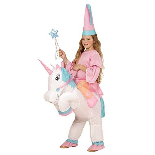 Amakando Traje Caballo niño Inflable Disfraz Unicornio Hinchable Vestido Elfo niña Ropa Cuento Atuendo corcel Infantil Disfraces Hada Chica