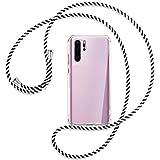 mtb more energy® - Funda para teléfono móvil compatible con Huawei P30 Pro (VOG-L09, L29, L04, 6,47 pulgadas), color blanco y negro