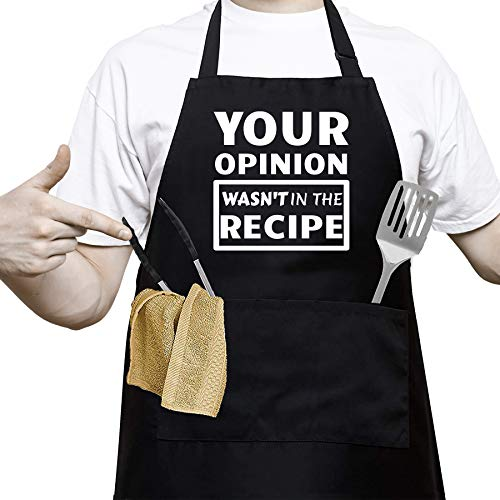 "(50% OFF) ""Your Opinion"" Cooking Apron $8.49 – Coupon Code"