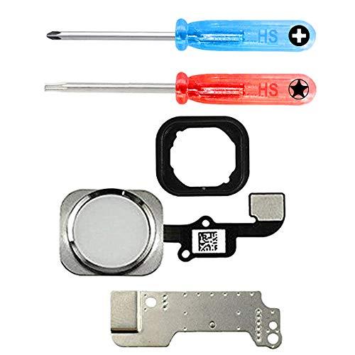 MMOBIEL Repuesto Botón de Inicio Home Compatible con iPhone 6/6 Plus (Blanco) CableFlex Soporte Metálico Inc Herramienta