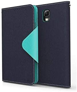 Navy / Mint Samsung Galaxy Note 3 Wallet Case; Best Design with Coolest Premium [PU/Faux Leather] with Stand Feature and Magnetic Flap Closure; Functional Fashion Slim Wallet Case Cover for Galaxy Note 3 (Release Date); Supports Samsung Note 3 Devices From Verizon, AT&T, Sprint, and T-Mobile …