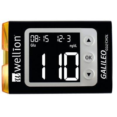WELLION GALILEO GLU/CHOL Set mg/dl schwarz
