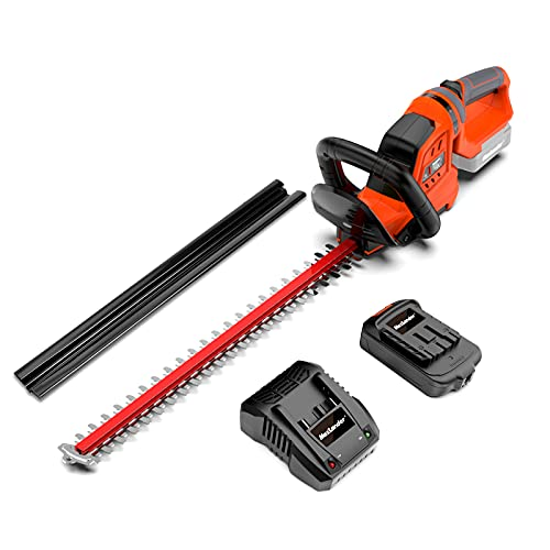 """MAXLANDER Cordless Hedge Trimmer with 22""""Dual-Action Blade, Include 20V 2.0Ah Battery and Fast Charger"""