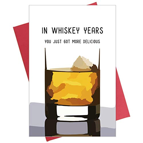 Whiskey Geburtstagskarte, lustige Geburtstagskarte für Whiskey-Liebhaber, Karte für Vater, Ihn, Großvater