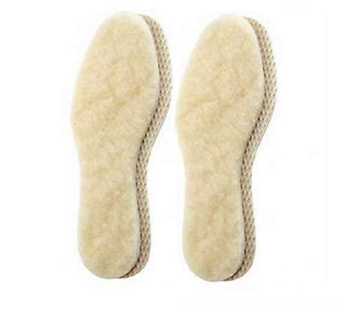 2 Paar echte warme kuschelige Lammwoll Einlegesohle-n I Gr.43 I 27,5cm Made in Germany mit extra 5h Wärme Booster für kalte Tage (43 EU)